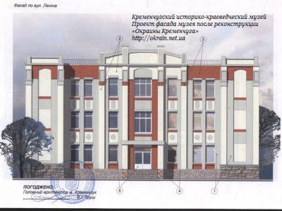 Проект фасада музея после реконструкции Реконструкция музея 2011 год