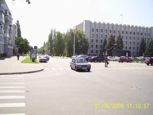 Улица Победы Кременчуг Вид на мэрию - фото № 35