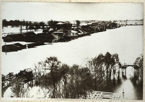 Наводнение 1877 год Вид с крыши вокзала - фото № 161
