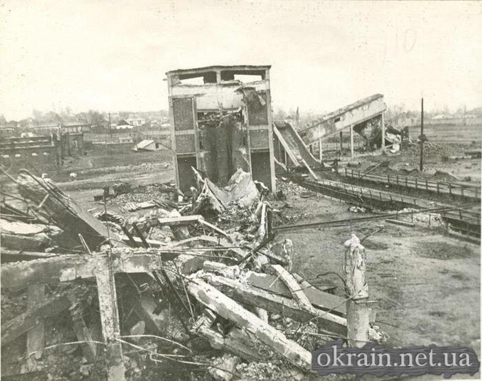 Разрушенная Кременчугская городская электростанция 1943 год - фото № 387