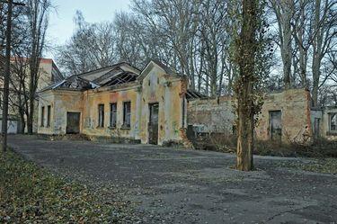 Развалины клуба железнодорожников