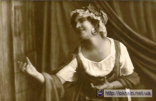 Л. Хуторная артистка кременчугского театра 1924 год - фото № 277