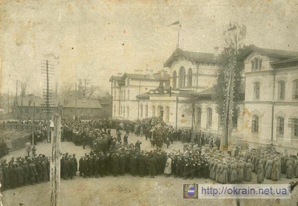 Митинг по поводу смерти Ленина 21 января 1924 года - фото № 327