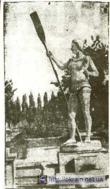 Скульптура при входе в парк культуры им. Котлова 1941 год - фото № 359