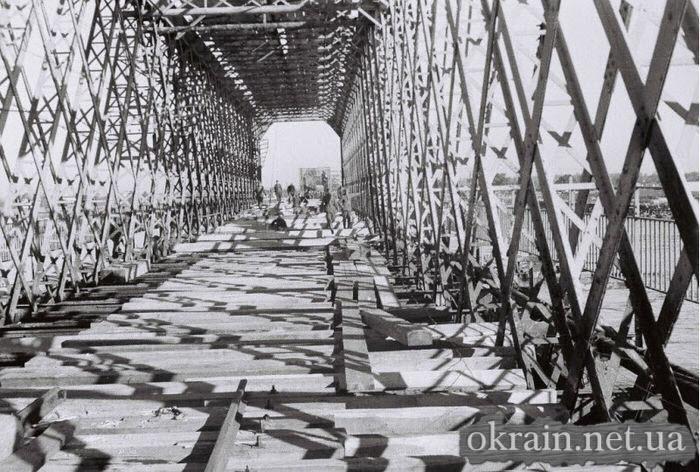 Ремонт Кременчугского моста немцами 1941 год - фото № 520