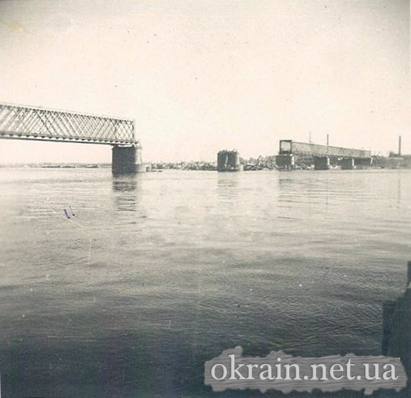 Разрушенный Крюковским мост 1941 год - фото 601