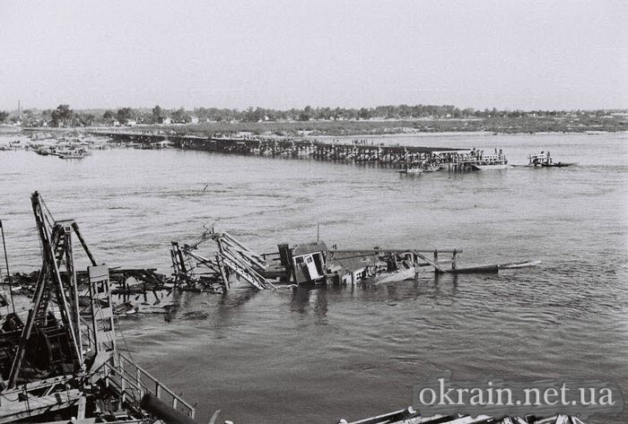 Немецкое фото с опоры Кременчугского моста 1941 год - фото № 517