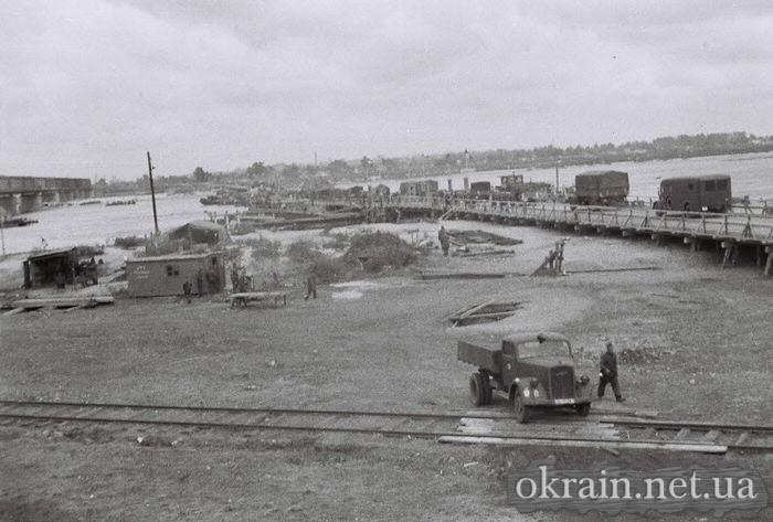 Фото с Крюкова немецкой переправы в Кременчуге 1941 год - фото № 514
