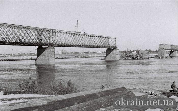 Разрушенный мост в Кременчуге 1941 год фото с Крюкова - фото № 507