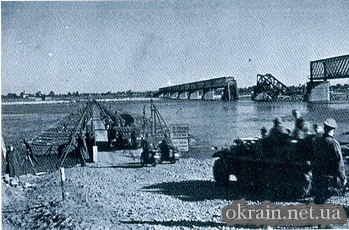 Немецкая переправа в районе моста в Кременчуге 1941 год - фото № 488
