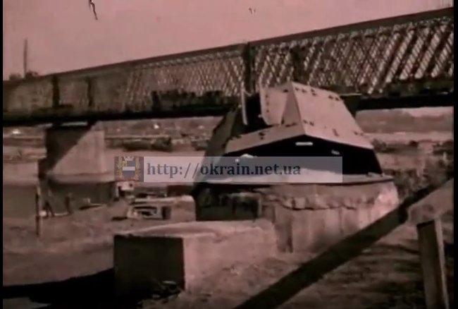 Немецкая переправа выше моста в Кременчуге - видео 585