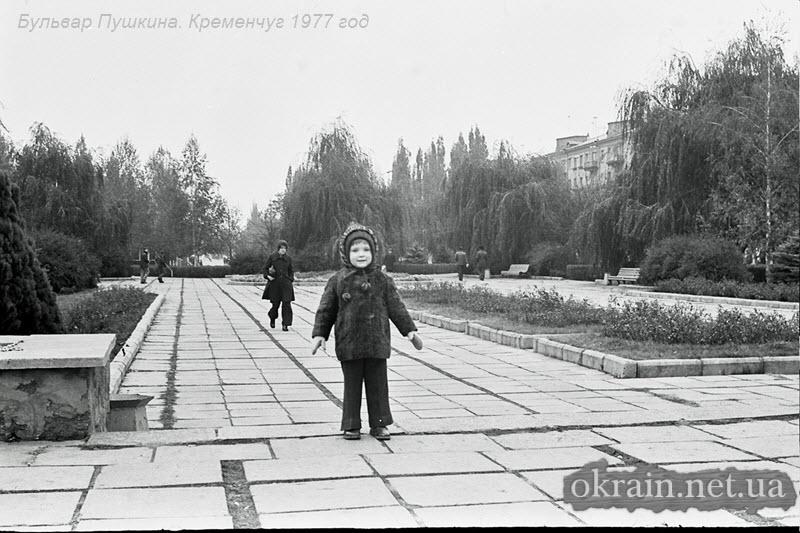 Бульвар Пушкина. Кременчуг 1977 год. - фото 1402
