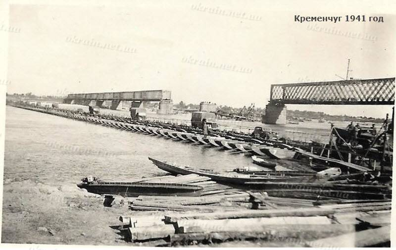 Переправа через Днепр и Крюковский мост - 1605