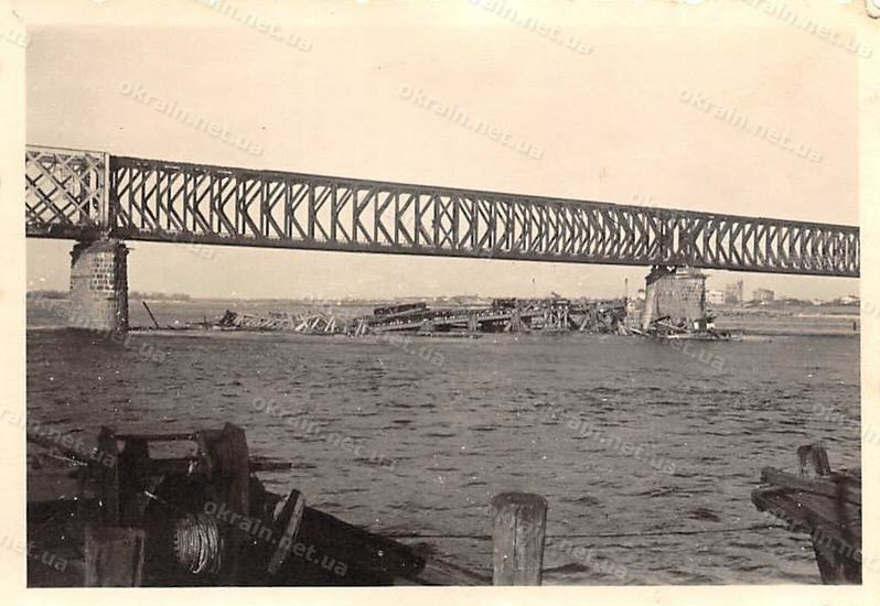 Восстановленный Крюковский мост 1941 год - фото 1637