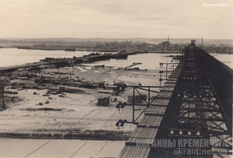 Вид с ж/д моста в Кременчуге на Крюков 1941 год - фото № 1839