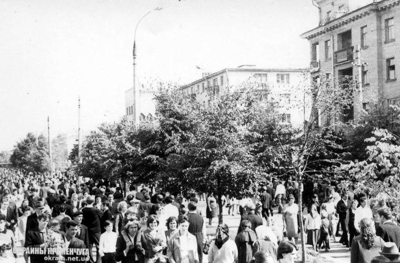 1 мая 1975 Кременчуг, улица Ленина (ныне Соборная) - фото № 1949