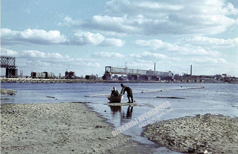 Переправа и Крюковский мост Кременчуг 1941 год - фото № 1965