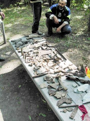 Летчик Виноградов - Раскопки 22 августа 2009 года