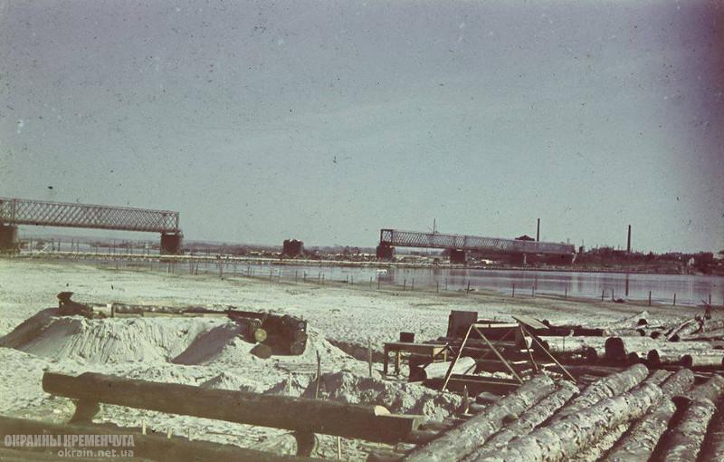 Разрушенный мост Кременчуг 1941 год - фото № 1982