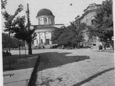 Соборная площадь и Успенский кафедральный собор Кременчуг 1942 год – фото № 1997