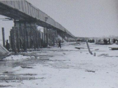 Строительство деревянного моста Кременчуг 1942 год — фото № 2017