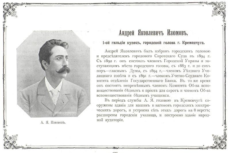 Андрей Яковлевич Изюмов городской голова Кременчуга фото номер 2065