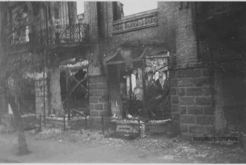 Сгоревшее здание Кременчуг 1941 год фото номер 2092