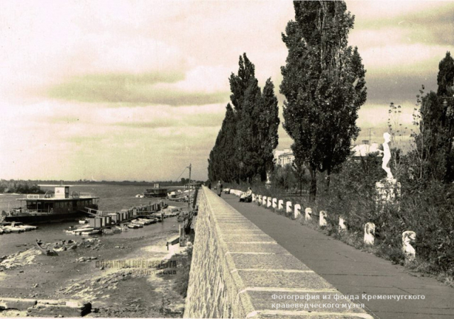 Набережная Днепра Кременчуг 1960-е фото номер 2103