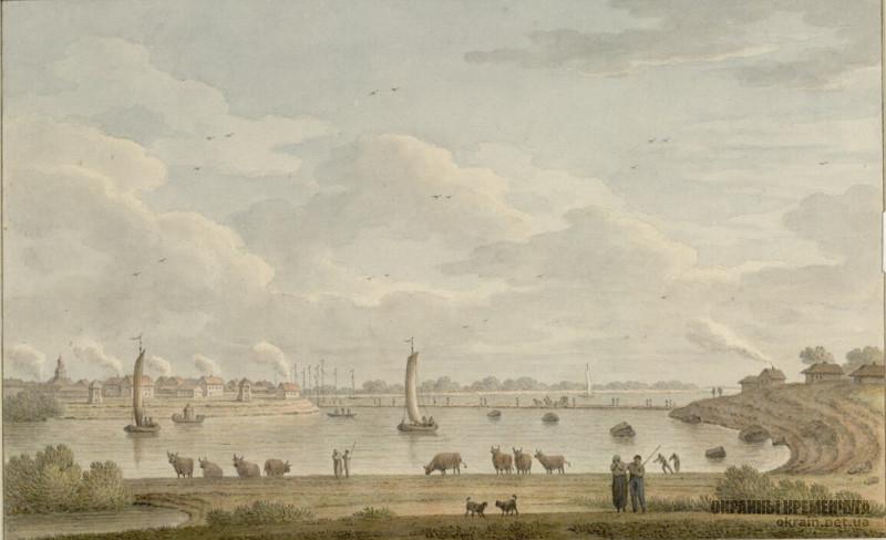 Город и порт Кременчуг 1781 год рисунок номер 2125
