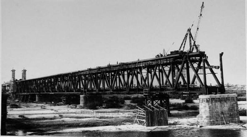 Строительство Крюковского моста 1949 год Кременчуг фото номер 2137