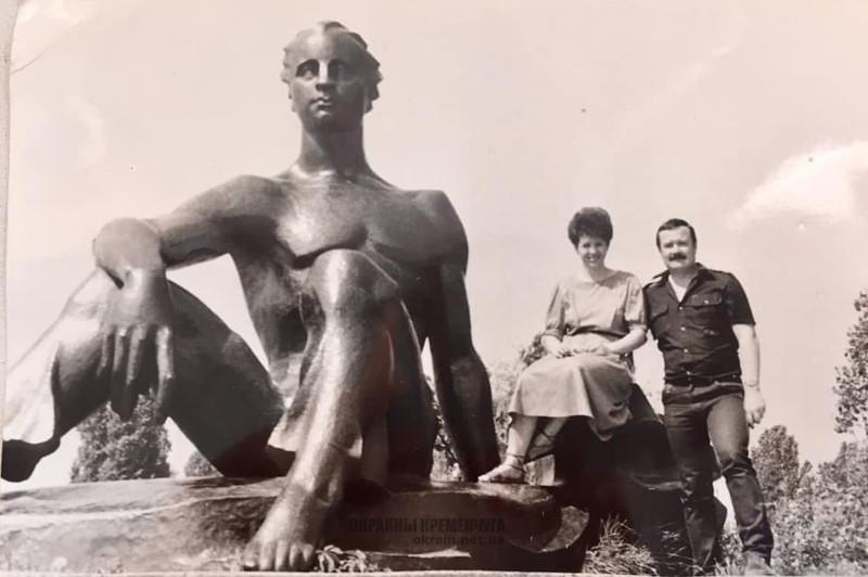 Скульптура Пловец вход на Центральный пляж Кременчуг фото номер 2139