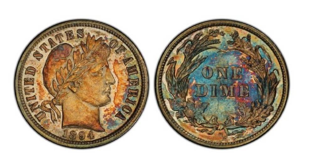 В США продали редчайшую 10-центовую монету