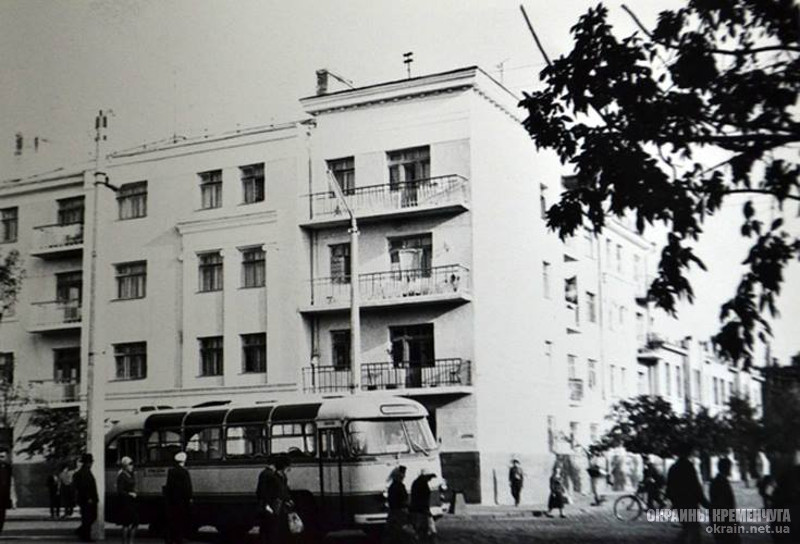 Перекресток улиц Шевченко и Ленина Кременчуг 1960-е фото номер 2164