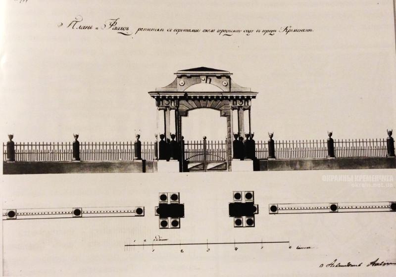 Проект ворот и ограды Городского Сада фото номер 2201