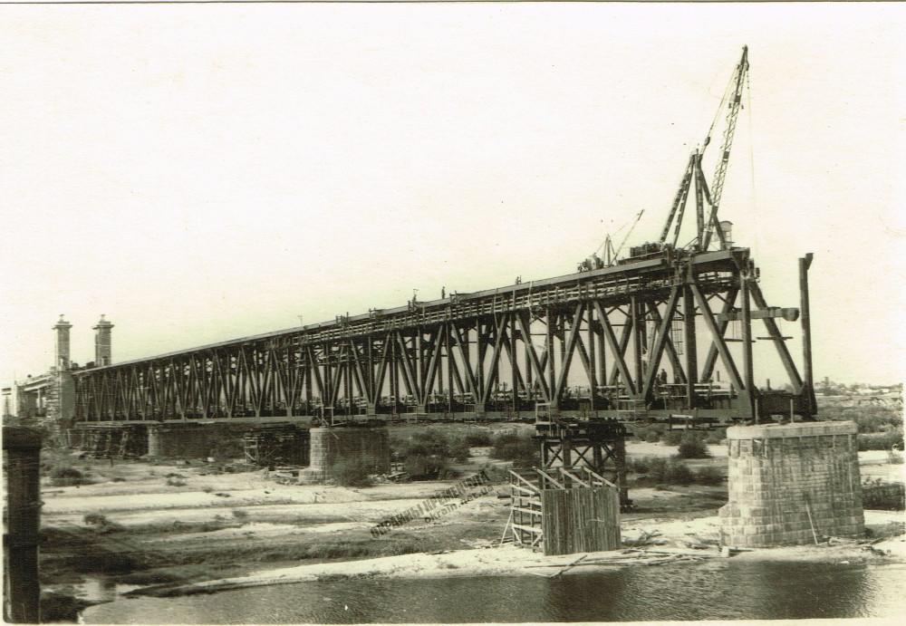 Строительство Крюковского моста 1948 год фото номер 2270