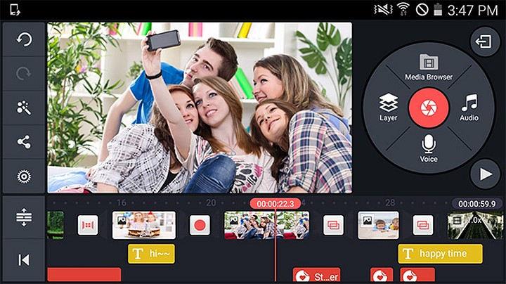 Приложение для монтажа видео и обработки фотографий на смартфоне