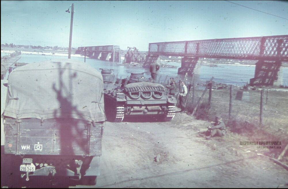 Немецкие танки перед переправой в Кременчуге 1941 год фото номер 2343
