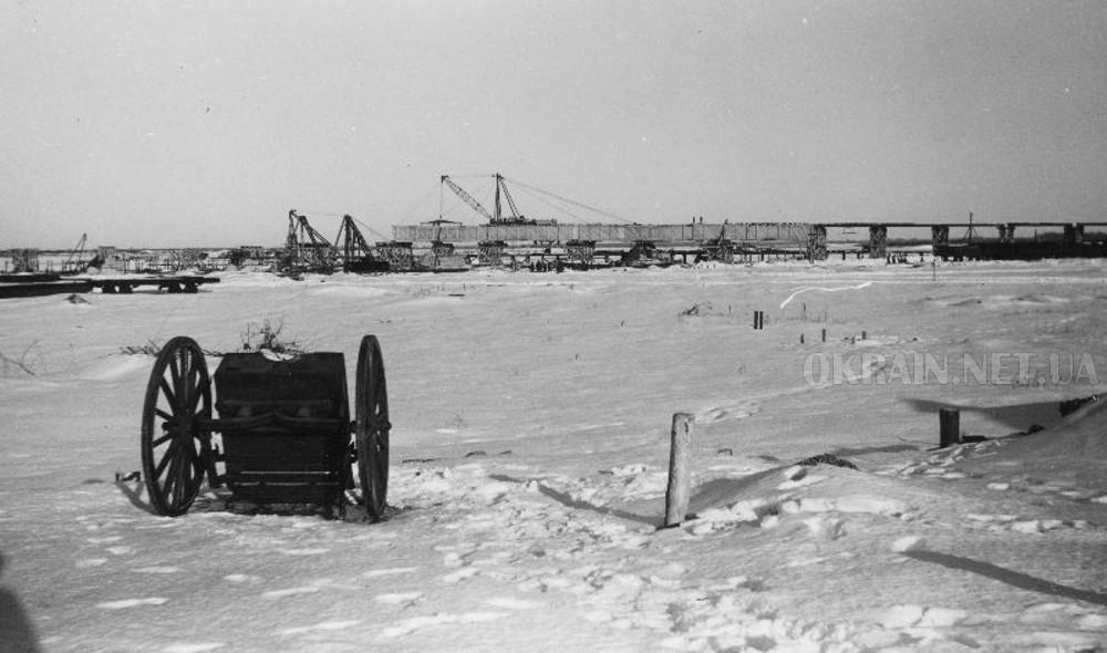 Строительство автомобильного моста в Кременчуге 1942 год фото номер 2358